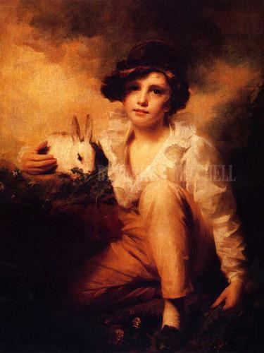 Boy And Rabbit by Sir Henry Raeburn