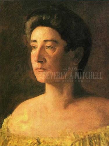 A Singer  Portrait Of Mrs. Leigo by Thomas Eakins