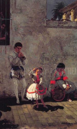 A Street Scene In Seville by Thomas Eakins