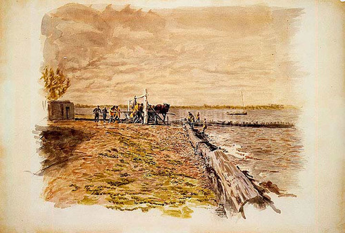 Drawing The Seine by Thomas Eakins
