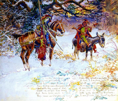 Fool And The Knight by Charles Marion Russell