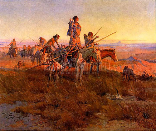 In The Wake Of The Buffalo Hunters by Charles Marion Russell