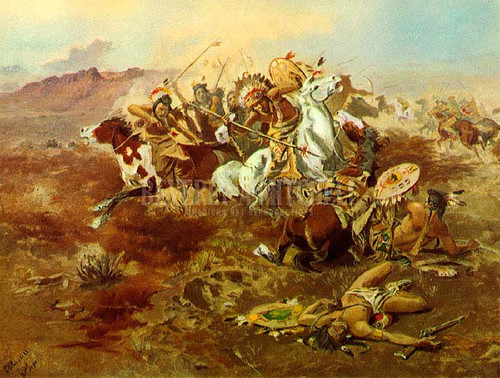 Indian Fight #1 by Charles Marion Russell