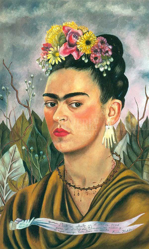 Self Portrait Dedicated To Dr by Frida Kahlo