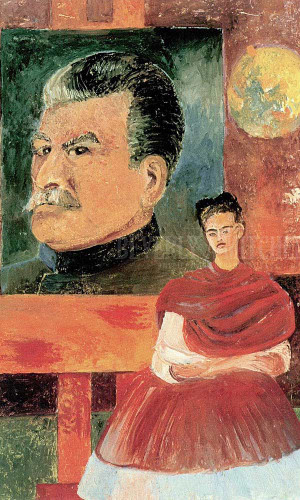 Self Portrait With Stalin Or Frida And Stalin by Frida Kahlo