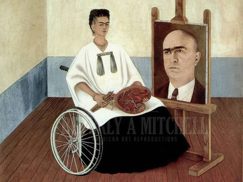 Self Portrait With The Portrait Of Dr.farill Or Self Portrait With Dr by Frida Kahlo