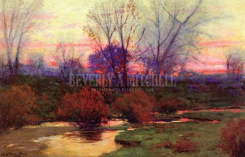 Platte River Sunset by Charles Partridge Adams