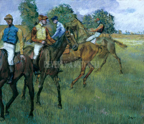 Before The Race By Degas Edgar