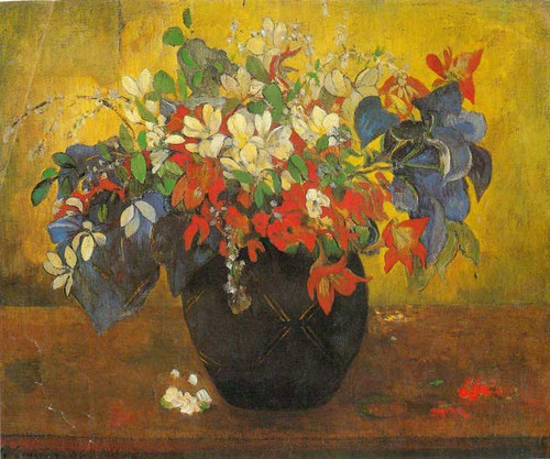 Bouquet Of Flowers 1896 By Gauguin