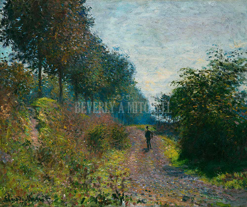 Sheltered Path By  Monet Claude