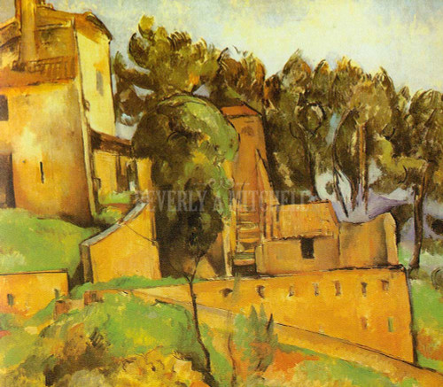 The House In Bellevue By Paul Cezanne