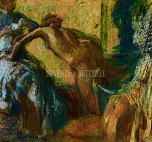 After The Bath By Degas Edgar