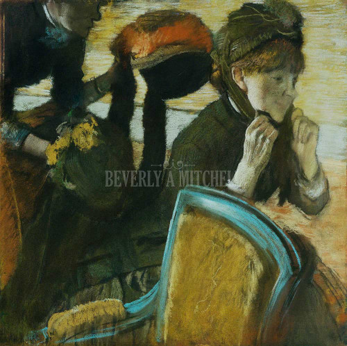 At The Milliner S By Degas Edgar
