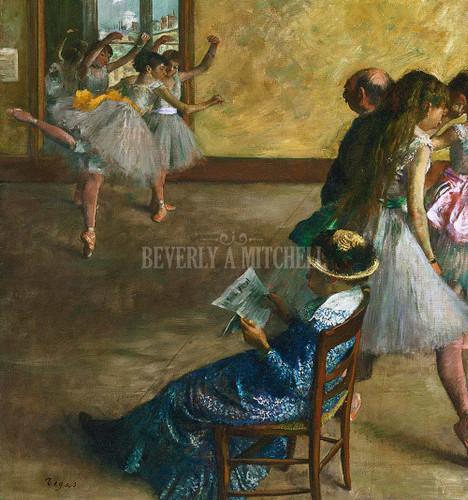 The Ballet Class By Degas Edgar