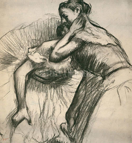 Two Dancers Resting By Degas Edgar