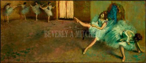 Before The Ballet By Degas Edgar