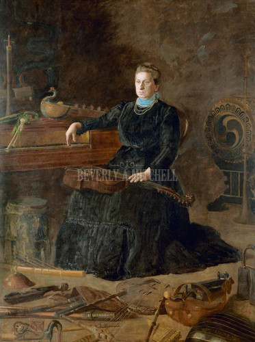 Antiquated Music Portrait Of Sarah Sagehorn Frishmuth By Thomas Eakins