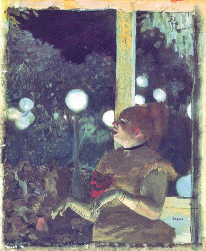 At The Cafe Concert The Song Of The Dog 1876 1877 By Edgar Degas