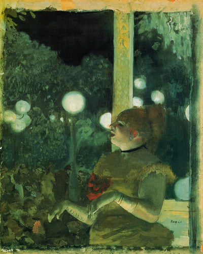 At The Cafe Concert By Edgar Degas