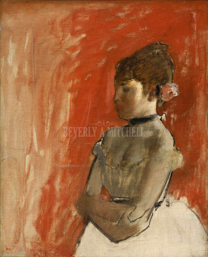 Ballet Dancer With Arms Crossed By Degas Edgar
