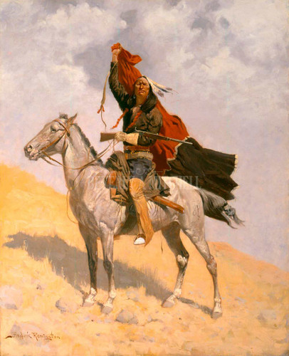 Blanket Signal By Frederic Remington