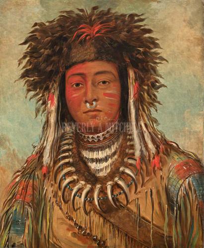 Boy Chief Ojibbeway By George Catlin