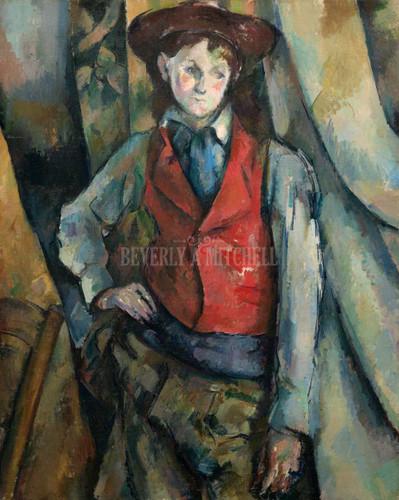 Boy In A Red Waistcoat By Cezanne Paul