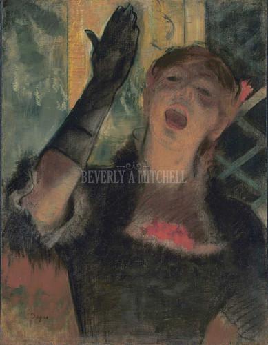 Cafe Singer By Degas Edgar
