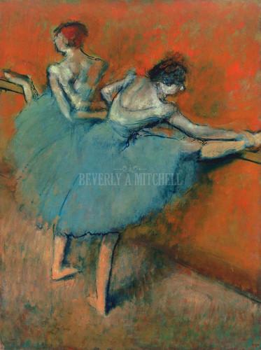 Dancers At The Bar By  Degas Edgar