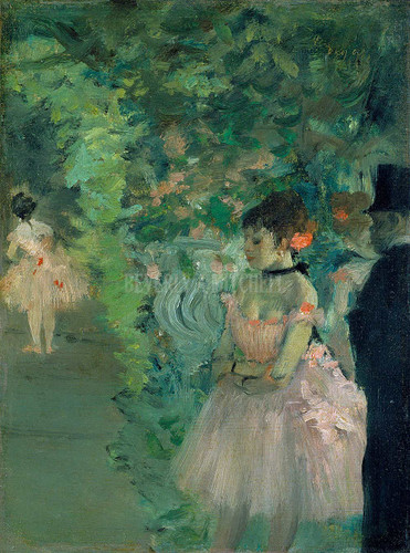 Dancers Backstage By  Degas Edgar