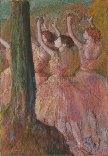 Dancers In Rose By Degas Edgar