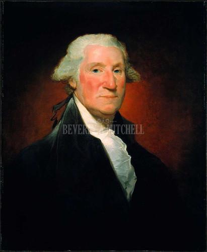 George Washington Vaughan Portrait By Stuart Gilbert