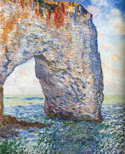 La Manneporte Near Etretat 1886 By Claude Monet