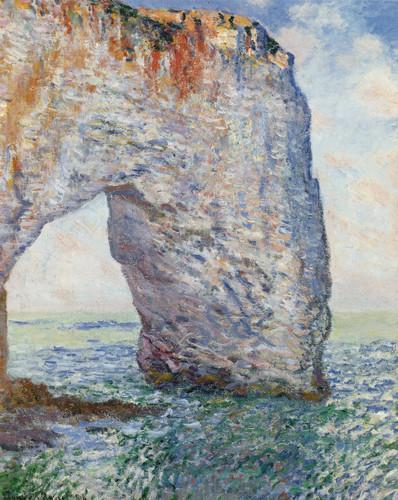 La Manneporte Near Etretat By Claude Monet