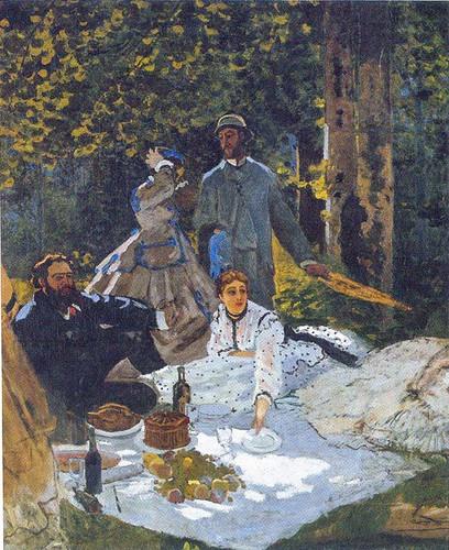 Le Dejeuner Sur L Herbe 1865 By Claude Monet