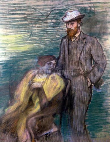 Monsieur And Madame Rouart By Degas Edgar