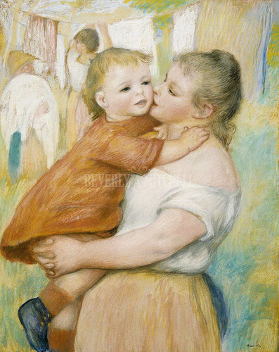 Mother And Child By Renoir Pierre Auguste