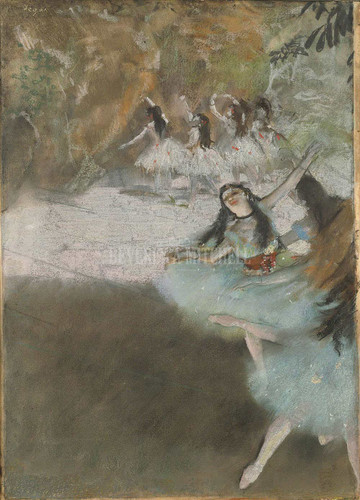 On The Stage By Degas Edgar