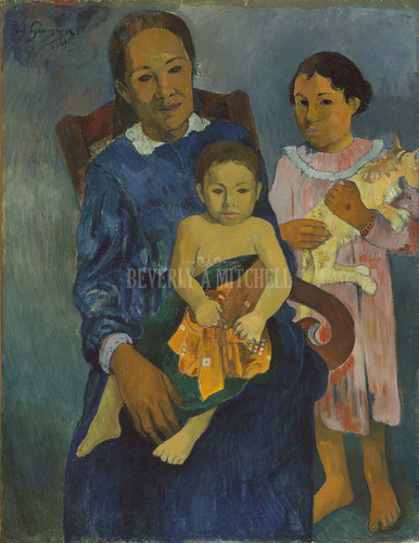 Polynesian Woman With Children ByPaul Gauguin