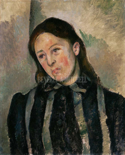 Portrait Of Madame Cezanne By  Cezanne Paul