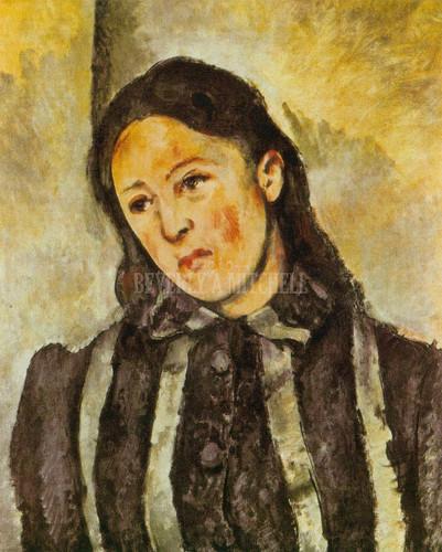 Portrait Of Madame Cezanne By Paul Cezanne