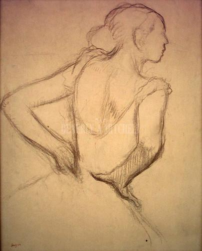 Standing Dancer By Degas Edgar