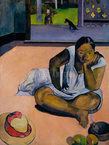 The Brooding Woman By Paul Gauguin