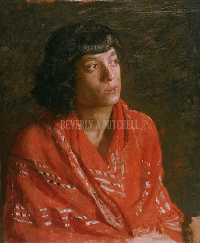 The Red Shawl By Thomas Eakins