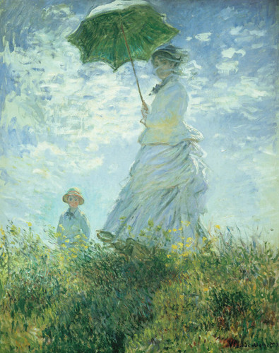 The Walk Lady With Parasol By Claude Monet