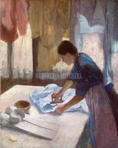 Woman Ironing By Degas Edgar