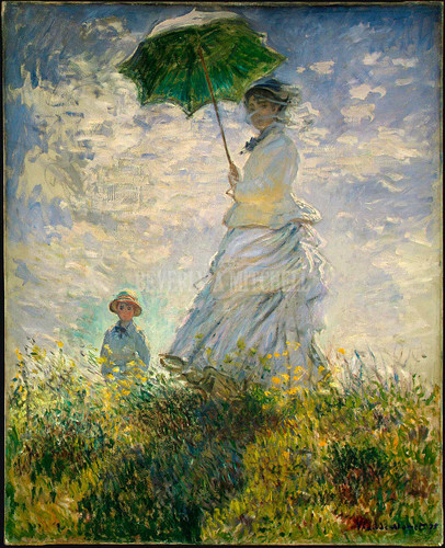 Woman With A Parasol  Madame Monet And Her Son By Monet Claude