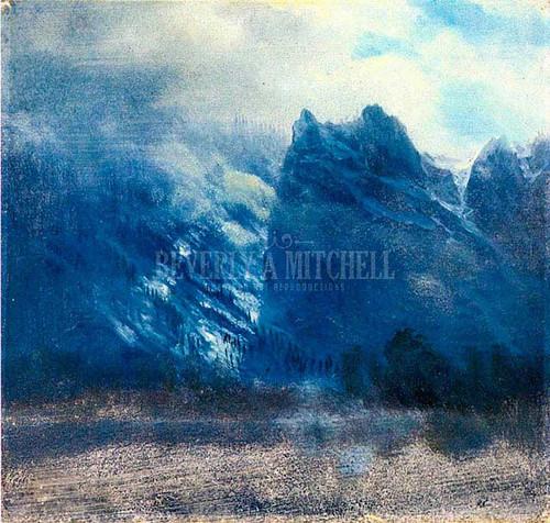 Yosemite Valley Twin Peaks by Albert Bierstadt