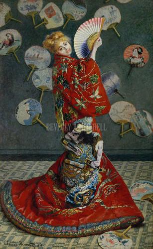 La Japonaise Camille Monet In Japanese Costume By Monet Claude
