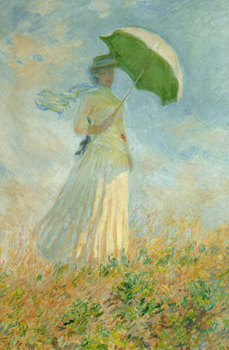 Lady With Parasol By Claude Monet